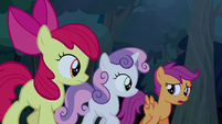 Scootaloo thinks about possibility of Trouble Shoes' arrest S5E6