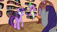 Spike blurts out -they're missing!- S4E01