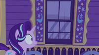 Starlight Glimmer stunned outside Trixie's wagon S6E25