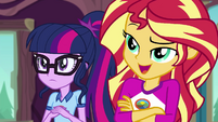 "Sunset Shimmer ""standard Pinkie Pie stuff"" EG4"