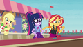 Applejack appears beside Twilight and Sunset EGROF.png