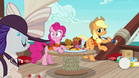 Applejack disappointed by her distracted friends S6E22