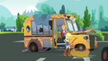 Applejack knocks off the bus's front right tire frame SS13.png