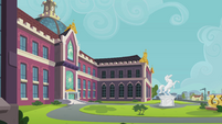 Canterlot High School exterior shot EG