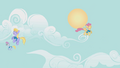 Cloud Kicker and Orange Swirl fly happily S1E11.png
