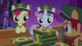 Crusaders gather their leftover cookie boxes S6E15.png