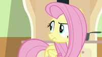 Fluttershy looks toward the window S6E11