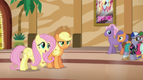 Fluttershy suggests helping Flim and Flam S6E20
