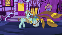 Janitor pony collecting the yovidaphone S8E18