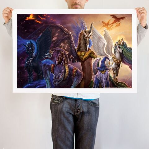 File:Legends of Equestria art print WeLoveFine.jpg