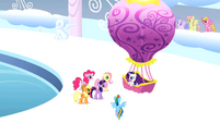 Mane6 at a hot air balloon S1E16
