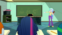 Principal Celestia beginning the lesson SS8