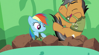 Quibble diving into the ballpit S6E13