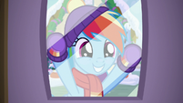 Rainbow Dash window shopping MLPBGE