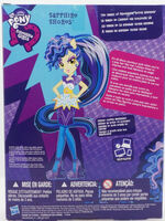 Rainbow Rocks Fashion Doll Sapphire Shores back of packaging