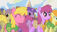 S01E11 Parasol, Cherry Berry, Amethyst Star, Berry Punch, Golden Harvest