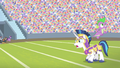 Spike jumps from Shining Armor's back S4E24.png