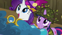 Undercover Twilight and Rarity watching S2E21