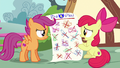 Apple Bloom showing the completed chart S6E19.png