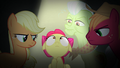 Apple Bloom surrounded by renouncing Apples S5E4.png