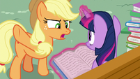 "Applejack ""not goin' through that again!"" S8E18"