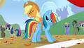 Applejack tying up Rainbow S1E13.png