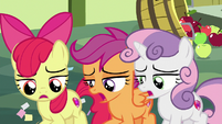 Cutie Mark Crusaders sigh in defeat S8E12