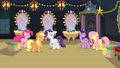 Five friends laugh as Rainbow Dash agrees to close window S2E11.png