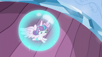 Flurry Heart in Cadance's magic bubble S6E1