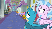 Gallus and Silverstream watch other students get haunted S8E15