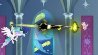 Grogar's bell starts draining Celestia and Luna S9E24