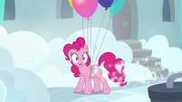 Pinkie Pie looking down a Cloudsdale alleyway S7E23