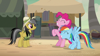 Rainbow Dash and Pinkie Pie very thrilled S7E18