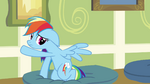 Rainbow Dash splays out wing S2E16