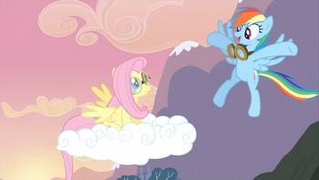 S02E22 Rainbow gratulująca Fluttershy