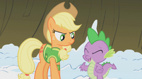 Spike pleased that Twilight took his advice S1E11