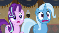 Starlight and Trixie gasp in shock S8E19