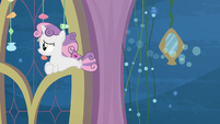 Sweetie Belle nervously follows her friends S8E6