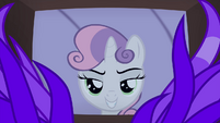 Sweetie smiling sinisterly S4E19