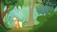 Applejack hears something in the bushes S8E23