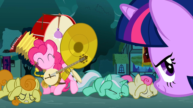 File:Background ponies covering their ears S3E05.png