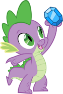 FANMADE Spike holding up a Diamond