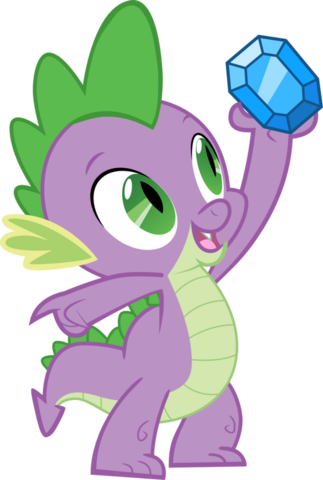 File:FANMADE Spike holding up a Diamond.png
