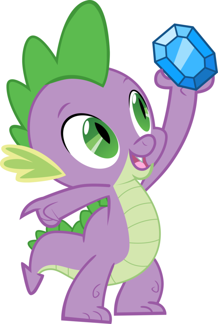 Image - FANMADE Spike holding up a Diamond.png | My Little Pony ...
