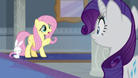 "Fluttershy ""aren't classes that way?"" S8E1"