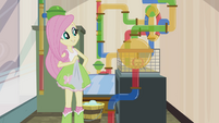 Fluttershy proud of her work EG2