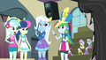 Lyra, Sweetie Drops, and Trixie with ears on EG3.png