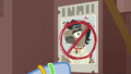 Mrs. Trotsworth puts up anti-Dr. Caballeron poster S7E18.png