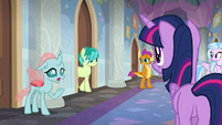 Ocellus and Sandbar come out of their rooms S8E16