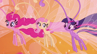 Pinkie Pie, Fluttershy, and Twilight as Breezies S4E16